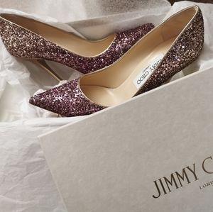 Jimmy choo pink/gold heels